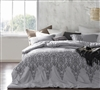 Baroque Stitch oversized King Comforter XL - Alloy and Pewter Embroidery comforter sets King oversize