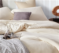 Bare Bottom Comforter - Queen Bedding Almond Milk
