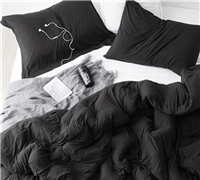 Bare Bottom Comforter - Queen Bedding Black