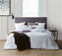 Stylish Gray Queen Oversize Bedding Glacier Gray Bare Bottom Best Comfort Extra Large Queen Comforter