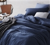 True Oversized Twin XL, Queen, and King Bedding Extra Large Nightfall Navy Blue Soft Bare Bottom King Comforter