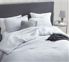 Twin XL, Queen, and King Bare Bottom Oversized Duvet Cover Easy to Match Glacier Gray Super Soft Bedding