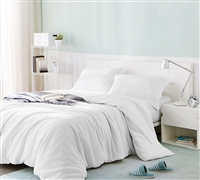 Must Have Queen Oversize Duvet Cover Beautiful White Bare Bottom Queen XL Duvet Cover with Zipper Closure