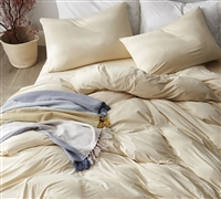 Softest Bedding Sheets sized Twin oversize cream color - Bare Bottom Winter Warmth
