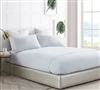 Stylish Gray Twin XL, Queen, and King Sized Bedding All Season Bare Bottom Glacier Gray Essential Soft Bedding Sheets