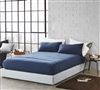 Bare Bottom Sheets - All Season - Twin XL Bedding - Nightfall Navy