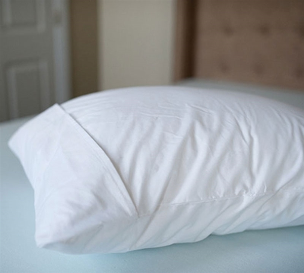 Softest White Bed Pillow Cover Standard French Fold
