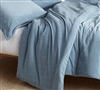 Coma Inducer Queen Duvet Cover - Baby Bird - Smoke Blue