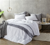 Luxurious Made in Portugal Twin XL, Queen, or King Oversize Quilted Comforter Stylish Boa Noite Washed Percale High Quality 200TC