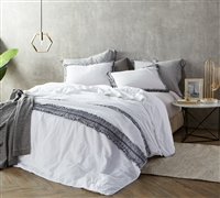 One of a Kind Boa Noite High Quality Textured Twin Extra Long Quilted Comforter Washed Percale 200TC Cozy Cotton
