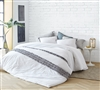 White King Oversize Duvet Cover with Textured Design One of a Kind Boa Noite Washed Percale 200TC Luxurious Portugal King XL Bedding