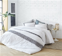 Best Oversize Duvet Cover for Queen Sized Bed Stylish Boa Noite 200TC High Quality Washed Percale Soft Cotton Bedding