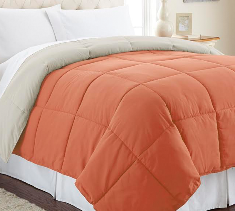 Buy Reversible Comforter Sized Twin Extra Long Burnt