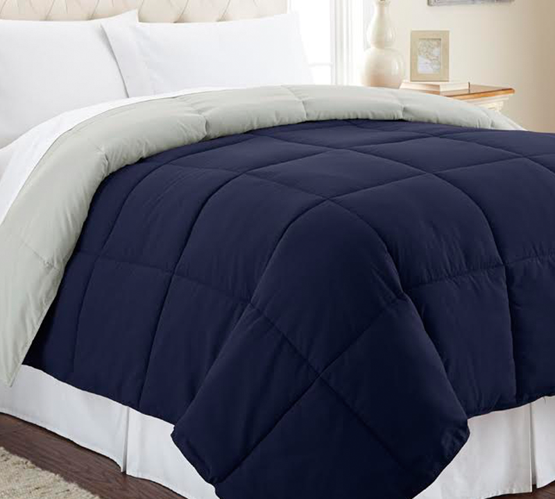 Oversized Twin Comforter Sets Blue And Silver Comforters