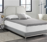 "Love Your Back - Coma Inducer - 3"" Convoluted Memory Foam King Bedding Topper - Nighttime Gray"
