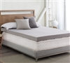 "Drools A Lot - Coma Inducer  - 4"" Memory Foam King Bedding Topper - Nighttime Gray"