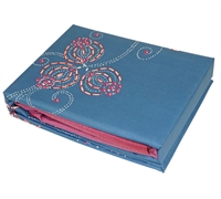 One-of-a-Kind Stylish Queen Bedding Pretty Sesta Paz Blue and Pink Queen Sheet Set
