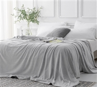 Twin XL, Full, Queen, and King Plush Comfortable Blanket Best Affordable Bedding Frosted Granite Gray Coma Inducer