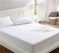 100% Cotton Fill - queen sized bedding mattress pads - softest bedding pads to match cozy soft bedding comforter set