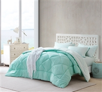Oversized King Comforter Sets - Hint of Mint and Yucca Bedding King