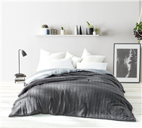 Cable Knit Comforter - Granite Gray - Oversized King XL Comforter