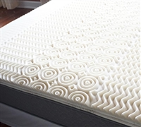 Quality Memory Foam - 5 Zone Egg Crate Memory Foam Full Topper - More Comfortable Bed