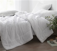 Coma Inducer Queen Comforter - Oversized Queen XL Bedding - The Original - White