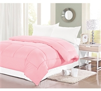 Natural Cotton Twin XL Comforter - Baby Pink Twin XL Bedding