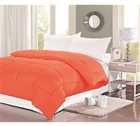 Best Cotton Bedding - Natural Cotton Twin XL Comforter - Orange - Great Color