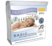 Basic Waterproof Twin XL Mattress Protector (Protect-A-Bed) - Essential for Twin XL Beds