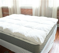 Bafflebox Full Duck Down Featherbed Full Featherbed Oversized Full XL Bedding