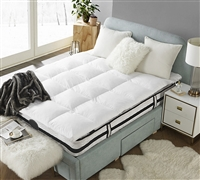 Bafflebox Full Goose Down Featherbed Oversized Full XL Bedding Full Bedding Topper Full XL Bedding Topper