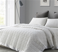 Down Oversized Twin Bedding Blankets - White Down Bed Blankets in Twin XL