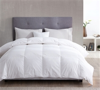 230 Thread Count White Duck Down Twin Comforter Oversized Twin XL Bedding