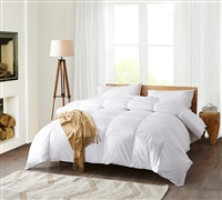 330 Thread Count White Goose Down Queen Comforter Oversized Queen Comforter Queen XL Comforter