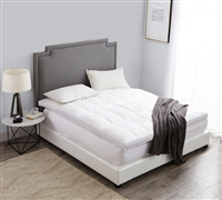 Luxury Down-Top Duck Full Featherbed Full XL Bedding Full XL Featherbed Oversized Full Bedding
