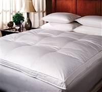 Luxury Down-Top Goose Full Featherbed Oversized Full Bedding Topper Full XL Featherbed