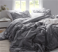 Queen Duvet Cover super soft - Alloy Pin Tuck bedding duvet cover to encase best down comforters Queen size
