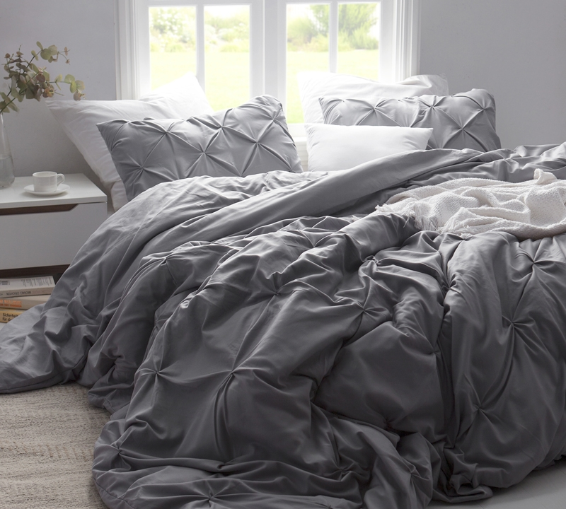 Super Soft Duvet Cover Sized Twin Oversized Alloy Pin Tuck