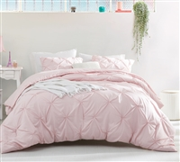 Pretty Pink Rose Quartz King Oversize Bedding One of a Kind Pin Tuck Essential Oversized King Duvet Cover
