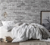White Pin Tuck Twin Duvet Cover Oversized - Twin XL size duvet cover with 2 matching shams super soft