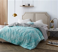 Minty Aqua Oversized King Comforter sets for King bedding sets XL- Cheap Minty Aqua comforters sized King oversize