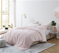 High Quality Pink King XL Coma Inducer Comforter - Oversized King Plush Bedding
