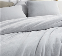 Unique Frosted Granite Gray Oversized Twin XL, Queen, and King Bedding Soft Coma Inducer Extra Large Duvet Cover