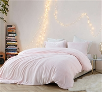 Pretty Pink Queen XL Bedding Frosted Rose Quartz Coma Inducer True Oversized Queen Duvet Cover for Queen XL Comforter