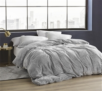 Cozy King Duvet Cover for Oversized King Comforter Stylish Frosted Black Coma Inducer Soft Plush King Bedding