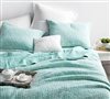 Filter Stone Washed Cotton Quilt - Hint of Mint - Oversized Queen XL