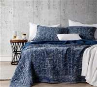 Filter Stone Washed Cotton Quilt - Nightfall Navy - Oversized Twin XL