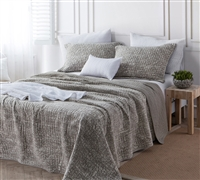 Filter Stone Washed Cotton Quilt - Silver Birch - Oversized Full XL