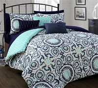 Leona Queen Comforter Bedding Essentials Reversible Comforters